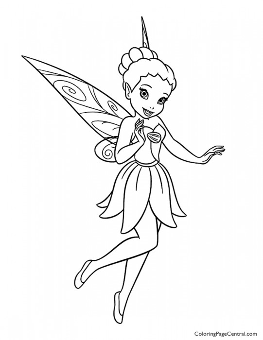 Tinkerbell – Iridessa 01 Coloring Page