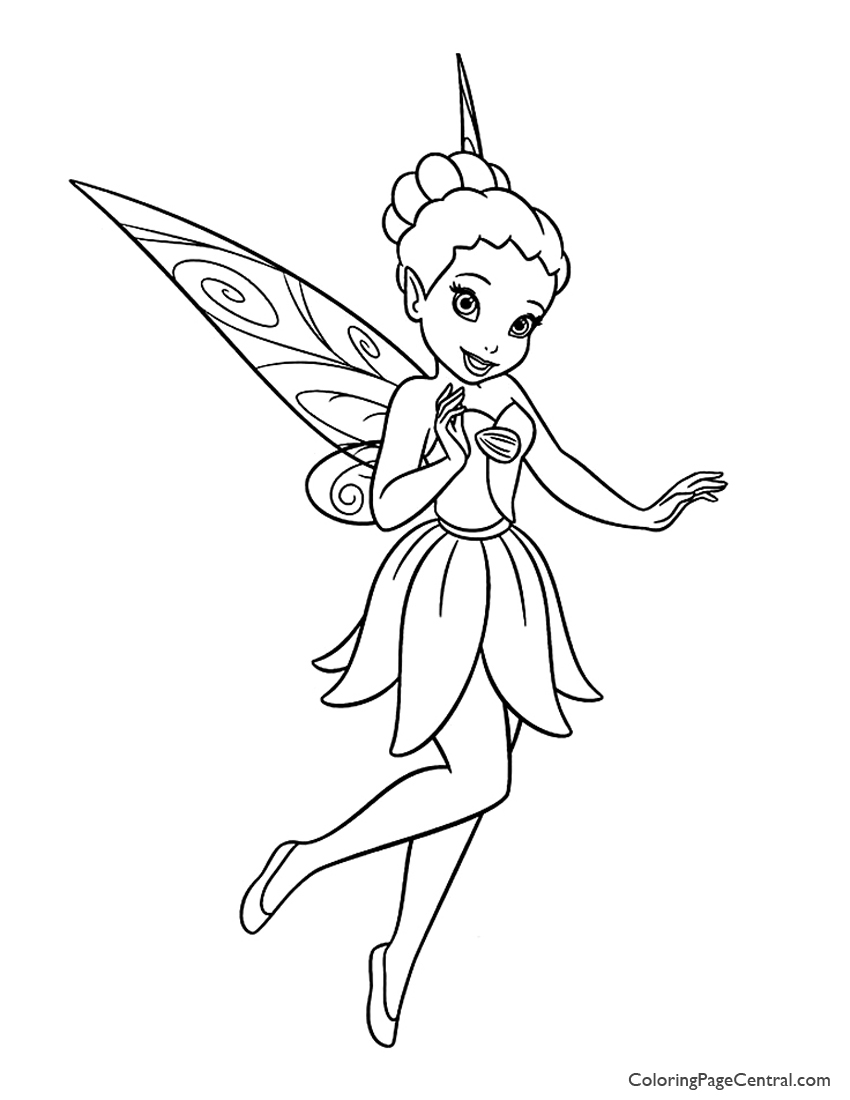 Tinkerbell - Iridessa 01 Coloring Page