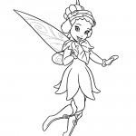 Tinkerbell - Iridessa 02 Coloring Page