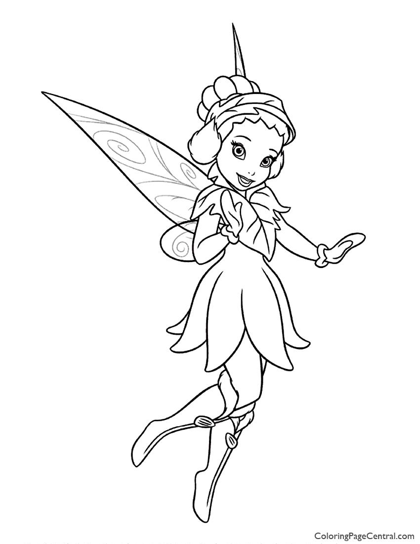 Tinkerbell iridessa 02 coloring page coloring page central for Silvermist coloring pages