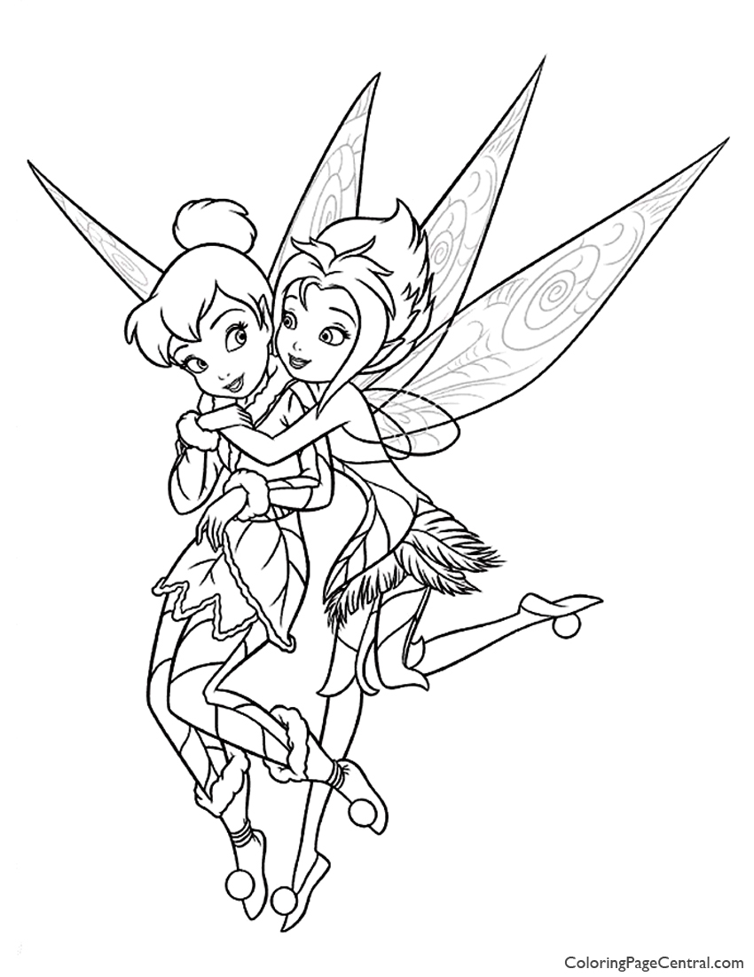Tinkerbell – Periwinkle 01 Coloring Page | Coloring Page ...