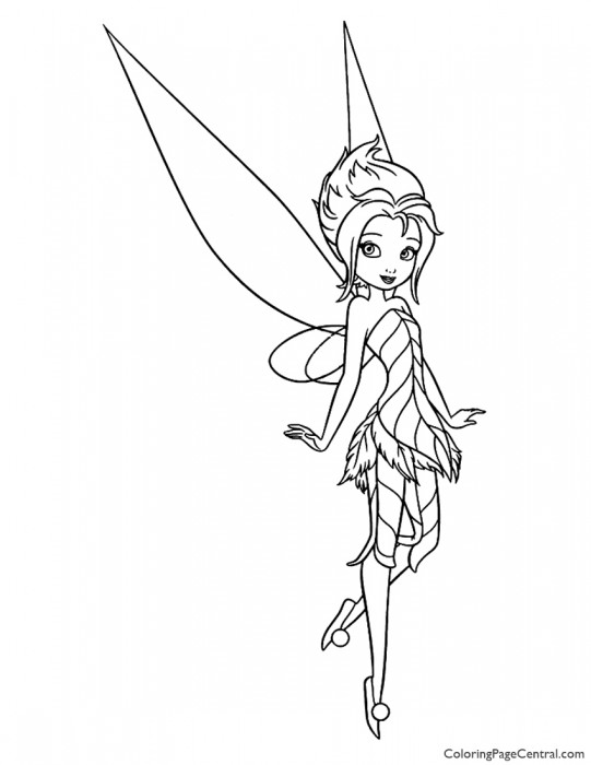 Tinkerbell - Periwinkle 02 Coloring Page