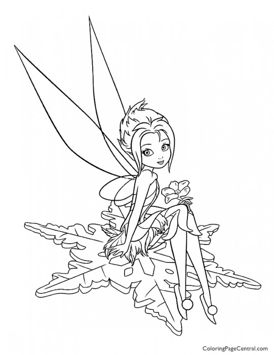 Tinkerbell – Periwinkle 03 Coloring Page
