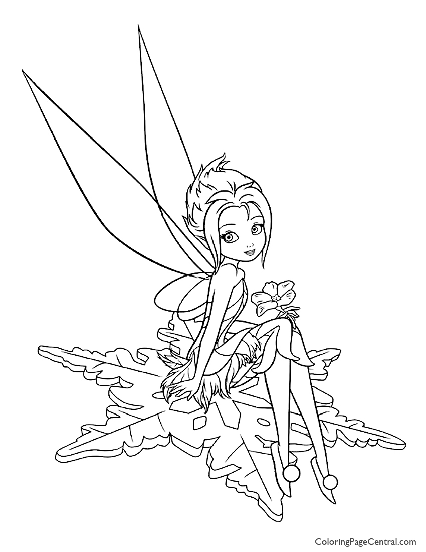 Tinkerbell Periwinkle 03 Coloring Page Coloring Page