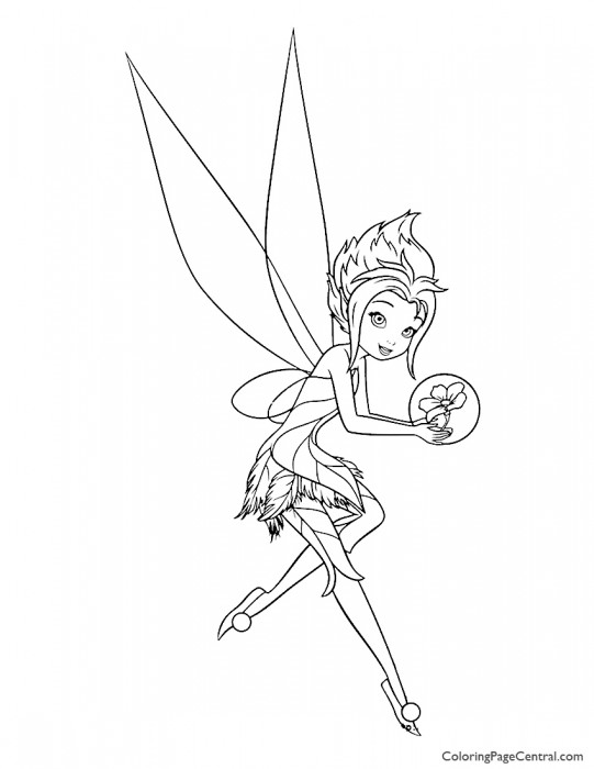 Tinkerbell – Periwinkle 04 Coloring Page