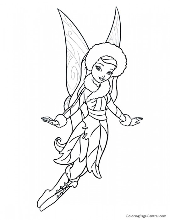 Tinkerbell - Silvermist 01 Coloring Page