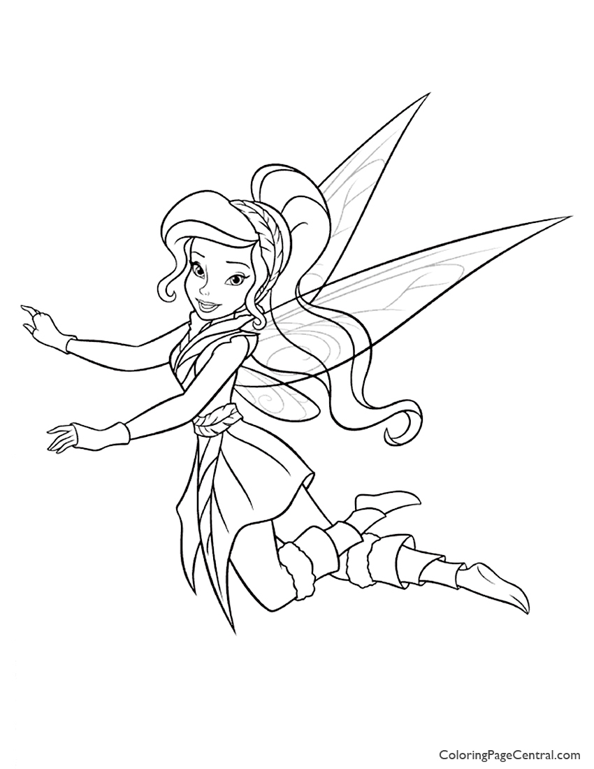 Tinkerbell - Vidia 01 Coloring Page