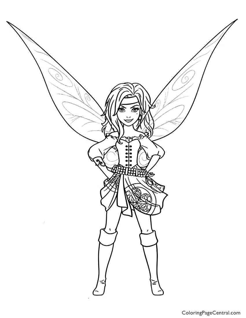 Tinkerbell Zarina 01 Coloring Page Coloring Page Central