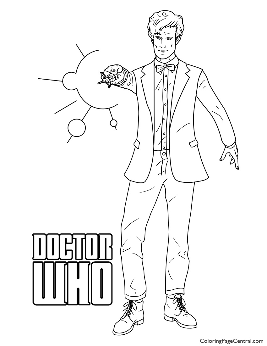 Doctor Who 03 Coloring Page | Coloring Page Central
