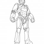 Doctor Who - Cyberman Coloring Page