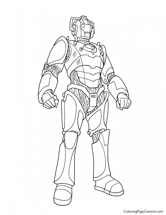 Doctor Who – Cyberman Coloring Page
