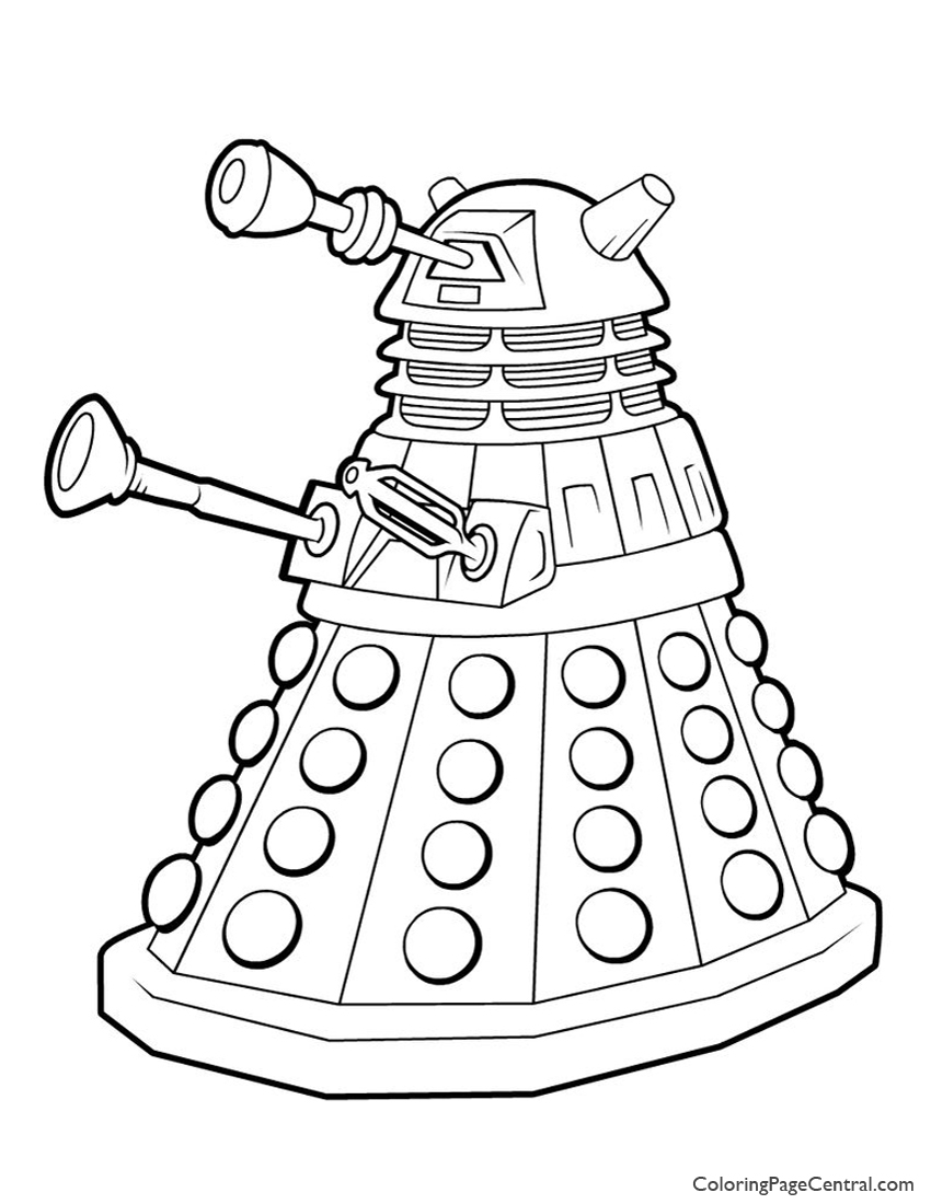Doctor Who – Dalek Coloring Page | Coloring Page Central