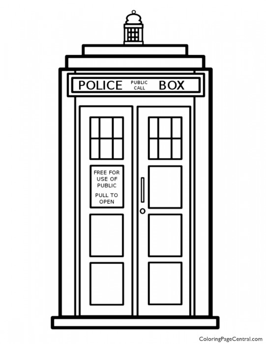 Doctor Who - Tardis Coloring Page