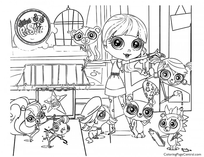 Littlest Pet Shop 01 Coloring Page