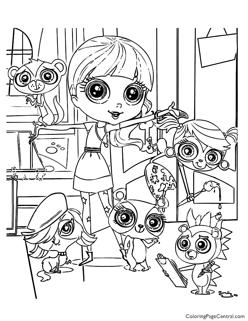 Free Coloring Pages My Little Pet Shop, Download Free Clip Art ... | 1100x850