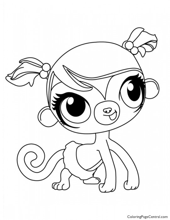 Littlest Pet Shop – Minka Mark Coloring Page