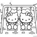 Hello Kitty Coloring Page 02