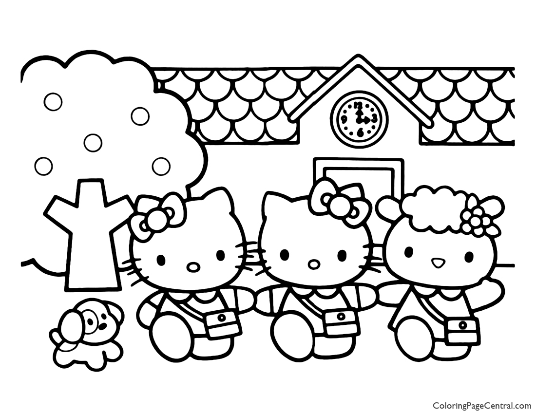 Hello Kitty Coloring Page 03