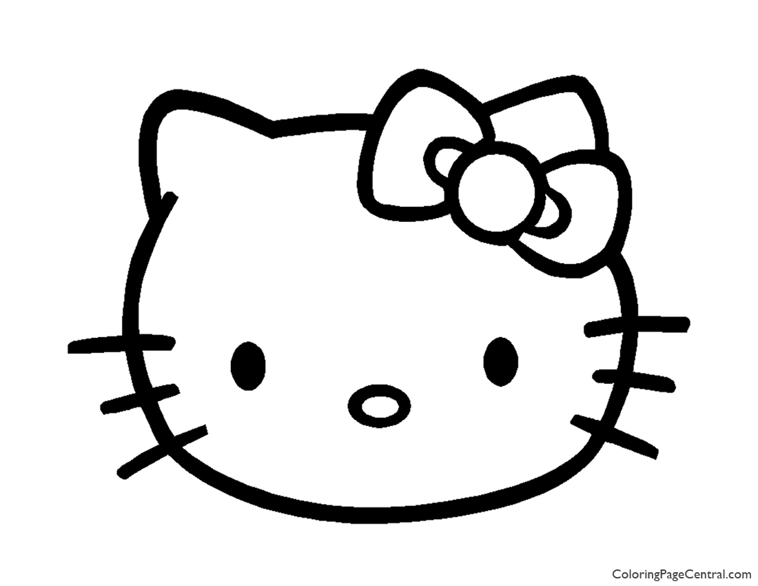 Hello Kitty Coloring Page 04 | Coloring Page Central
