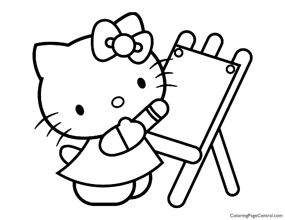 Hello Kitty Coloring Page 05
