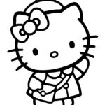 Hello Kitty Coloring Page 06