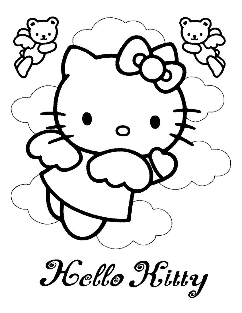 Hello Kitty Coloring Page 07 | Coloring Page Central