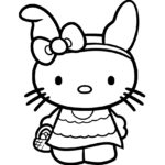 Hello Kitty Coloring Page 08