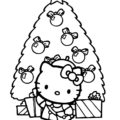 Hello Kitty Coloring Page 09