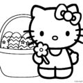 Hello Kitty Coloring Page 10