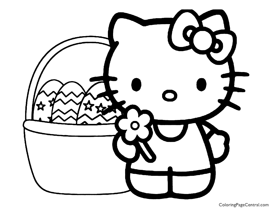Hello Kitty Coloring Page 10 | Coloring Page Central