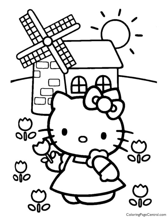 Hello Kitty Coloring Page 11