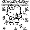 Hello Kitty Coloring Page 12