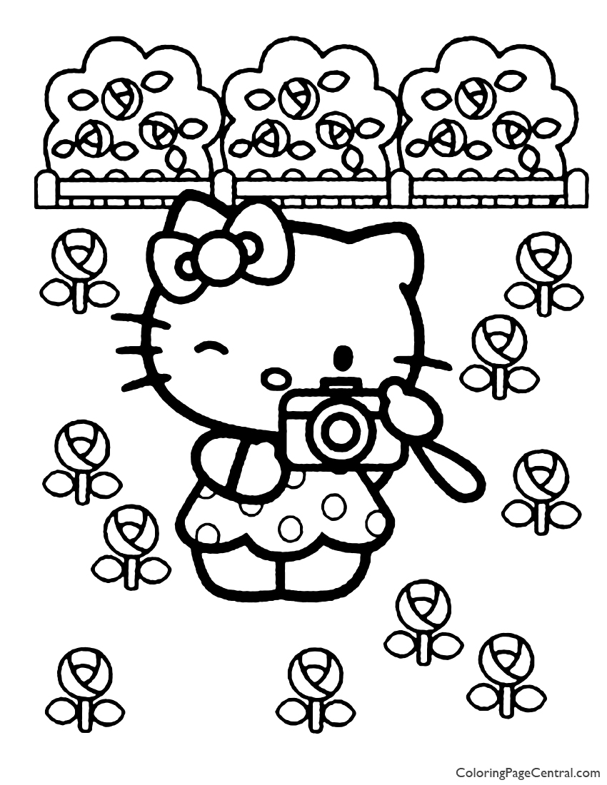 Hello Kitty Coloring Page 12 | Coloring Page Central