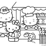 Hello Kitty Coloring Page 14
