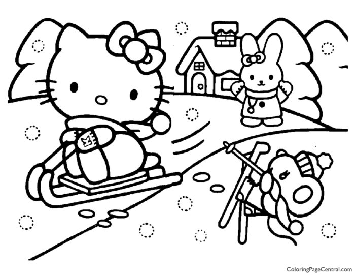 Hello Kitty Coloring Page 15
