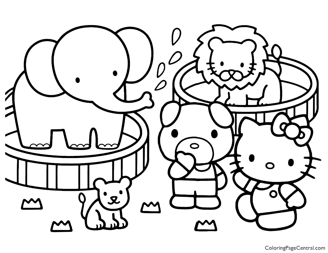 Hello Kitty Coloring Page 16 | Coloring Page Central