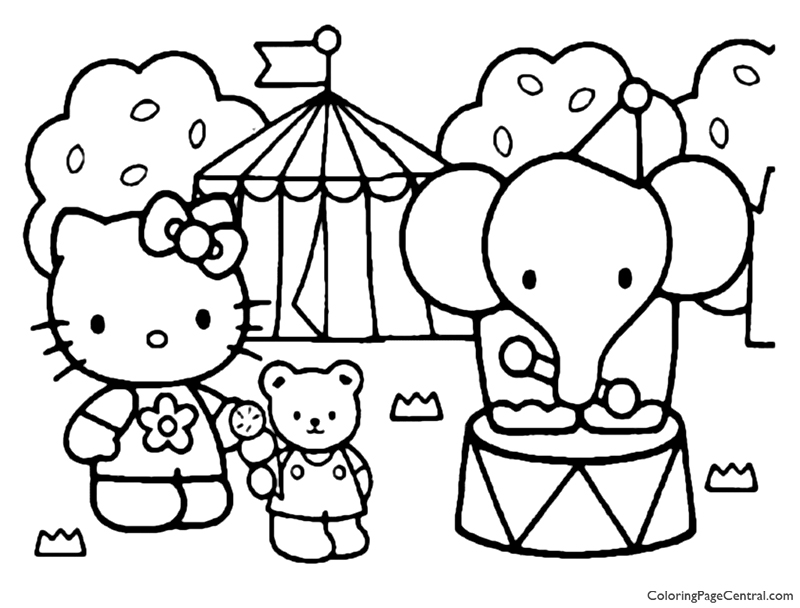 Hello Kitty Coloring Page 17