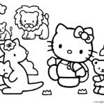 Hello Kitty Coloring Page 18