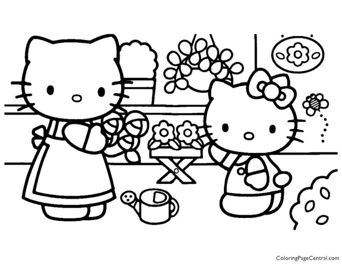 Hello Kitty Coloring Page 19
