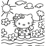 Hello Kitty Coloring Page 20