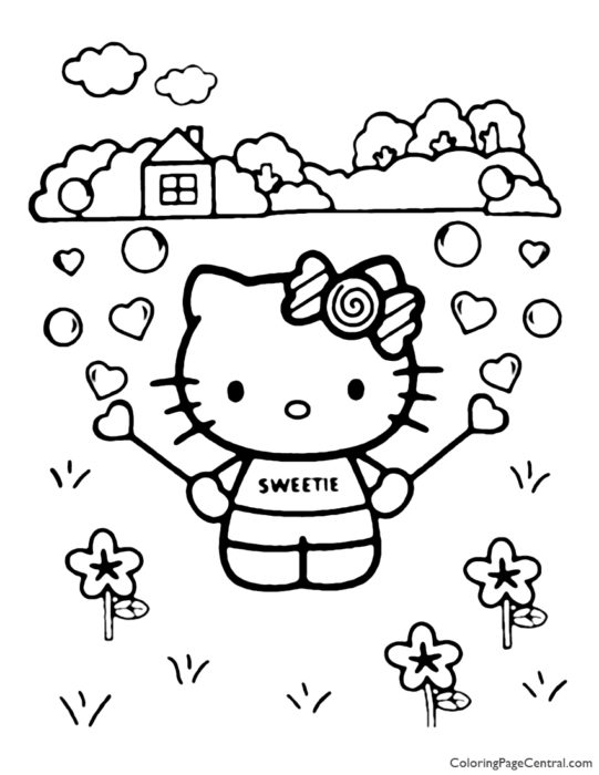 Hello Kitty Coloring Page 21