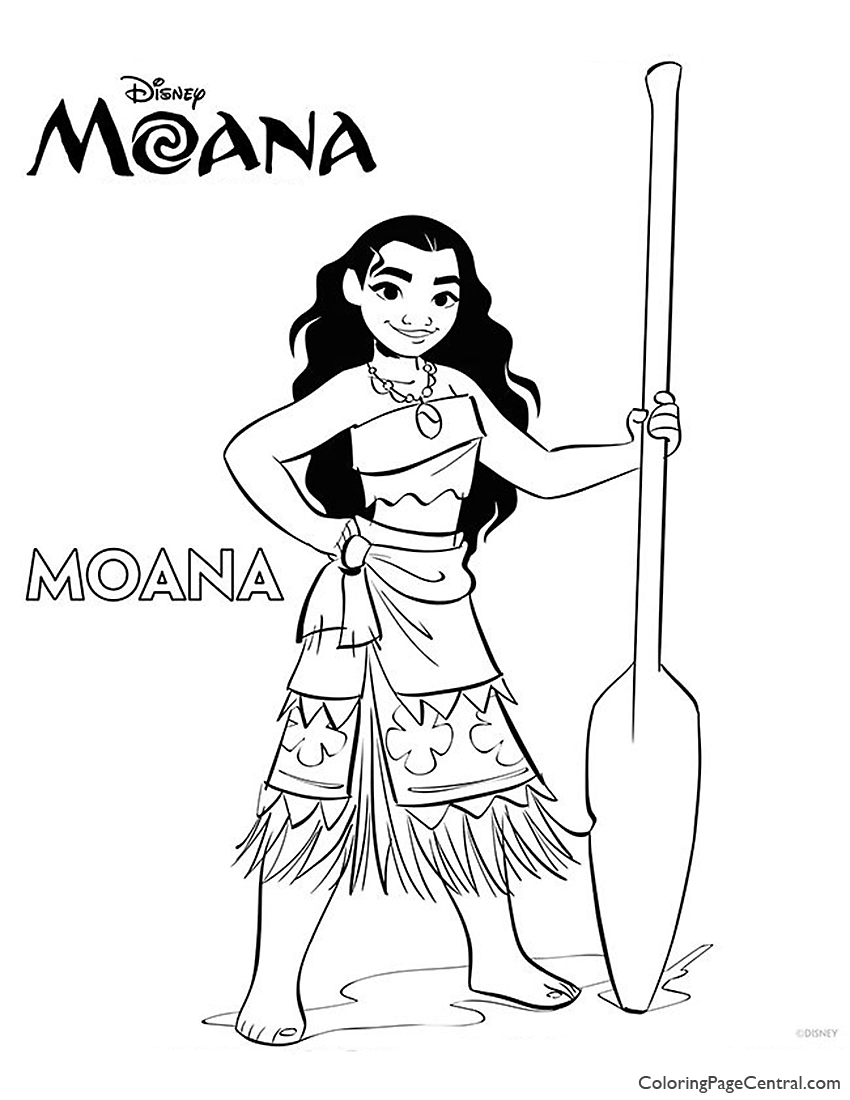 Moana Coloring Page 01 Coloring Page Central