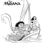 Moana Coloring Page 02