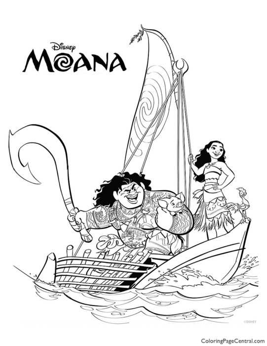 Moana Coloring Page 02
