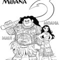 Moana Coloring Page 03