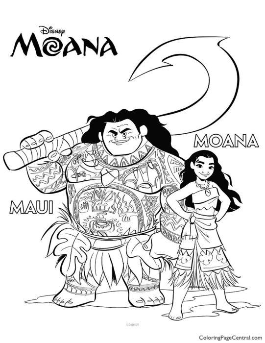 Moana Coloring Page 03