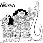 Moana Coloring Page 04