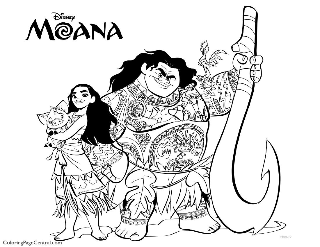 Moana Coloring Page 04