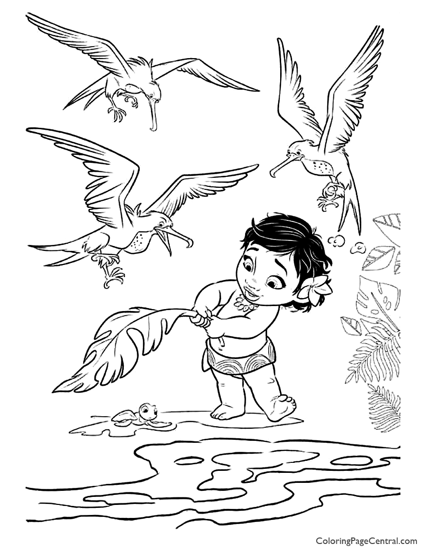 Moana Coloring Page 06 Coloring Page Central