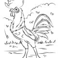 Moana - HeiHei Chicken Coloring Page